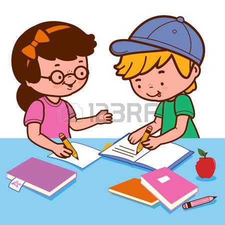 Is doing her homework